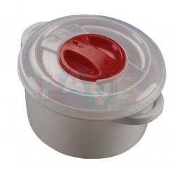 Hrnec do MVT kulatý  7,5x13 cm  0,5 l  plast