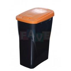 Koš na tříděný odpad oranžové víko  42x31x21 cm  15 l  plast