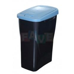 Koš na tříděný odpad modré víko  50x15x30 cm  25 l  plast