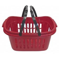 Koš na čisté prádlo s držadlem  48x28x24 cm,plast, červený