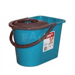 Kbelík ovál + ždímač  36x26x25 cm  14 l  plast  mix barev