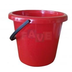 Kbelík  28x28 cm  10 l  plast, červený