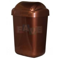 Koš STANDARD výklopný hnědý  54x35x29 cm  30 l  plast
