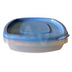 Dóza čtverec nízká  14,5x14,5x5 cm  0,5 l  plast