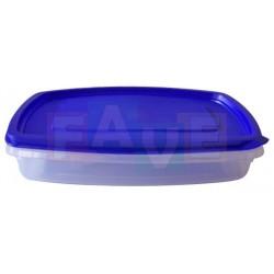 Dóza obdélník nízká  22,5x14,5x5,5 cm  1 l  plast