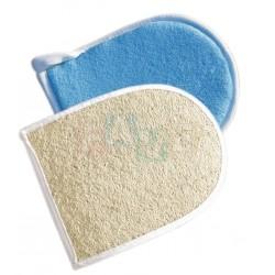 Žínka CAPRI rukavice  24x14 cm  lufa, mikrovlákno  mix barev