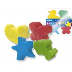 Houba dětská, sada 4 ks  9x8x5 cm  plast  mix barev