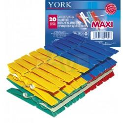 Kolíčky MAXI 20 ks  8,5x2x1 cm  plast
