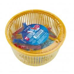 Koš na kolíčky + 50 ks kolíčků  19x6,5 cm  plast  mix barev