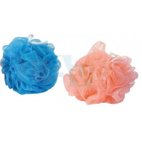 Žínka RŮŽE masážní  10x10 cm  30 g  plast  mix barev