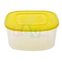 Dóza čtvercová 16,5x8,5 cm  1,5 l  plast  mix barev