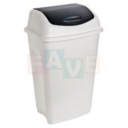 Koš výklopný, bílý  38,5x33,5x63,5 cm  50 l  plast
