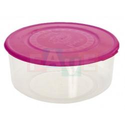 Dóza kulatá  5,5x13 cm  0,55 l  plast  mix barev