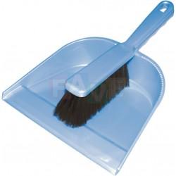 Smetáček + lopatka bez gumy  22x31 26x3,5 cm  chlup 5 cm  plast  mix barev