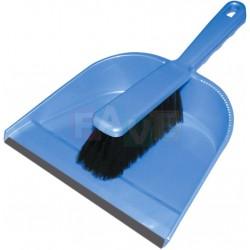 Smetáček + lopatka s gumou  22x31 26x3,5 cm  chlup 5 cm  plast