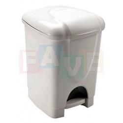 Koš BINNY pedálový s vložkou, bílý  23x20,5x30 cm  6 l  plast