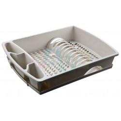 Odkapávač DUFFY na nádobí s podnosem mix  48x38x9 cm  plast  mix barev