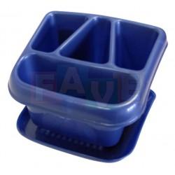 Odkapávač na příbory s podnosem  20x14x12 cm  plast  mix barev