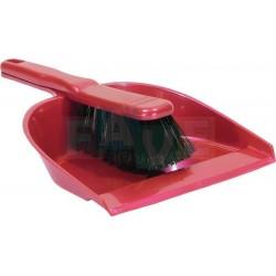 Smetáček + lopatka bez gumy  20,5x29 23x4 cm  chlup 5 cm  plast  mix barev