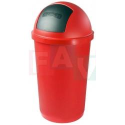 Koš ZEUSS výklopný, červený  77x39,5 cm  60 l  plast
