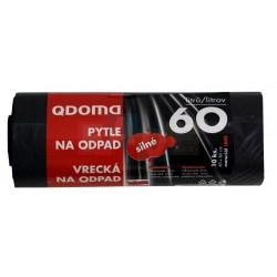 Pytle na odpadky silnostěnné 10 ks  70x60 cm  60 l  plast