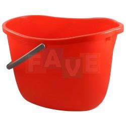 Kbelík ovál  37x25,5x27 cm  15 l  plast, červený