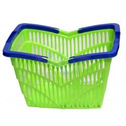 Koš nákupní 2 držadla  38,5x28x25 cm  plast  zelený