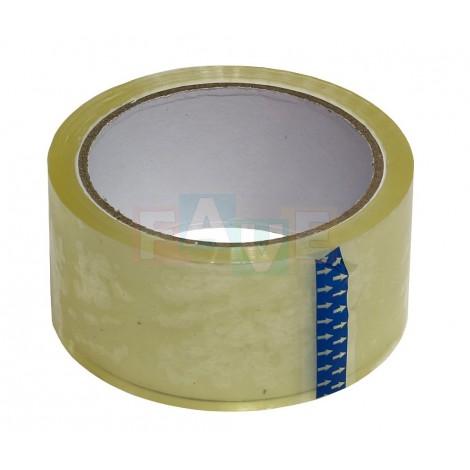 Lepicí páska transparentní  5x6600 cm  plast