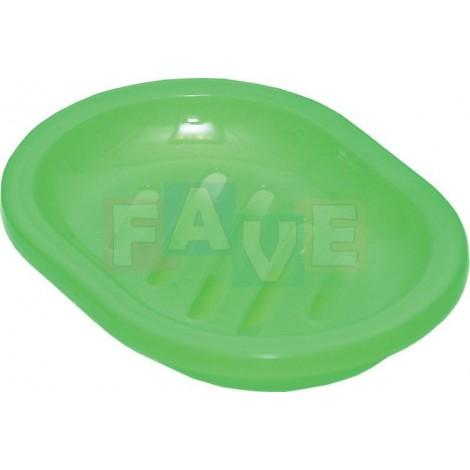 Držák na mýdlo, dvojitý  13x10 cm  plast  mix barev