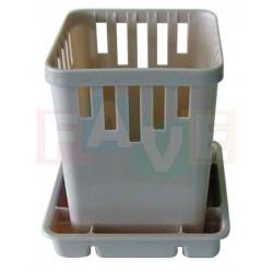 Odkapávač na příbory s podnosem  14x13x13 cm  plast  mix barev