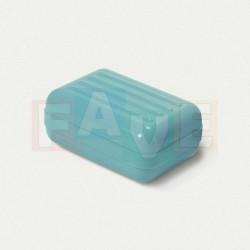 Krabička na mýdlo s vroubky  11x8x5 cm  plast  mix barev
