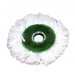 Náhrada univerzální kulatá k rotačnímu mopu  18x3 cm  plast, mikrovlákno