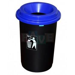 Koš EKO modré víko  60x41,5 cm  50 l  plast