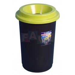 Koš EKO zelené víko  60x41,5 cm  50 l  plast