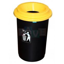 Koš EKO žluté víko  60x41,5 cm  50 l  plast