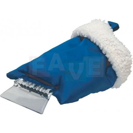 Autoškrabka s rukavicí  24x13  plast  modrá