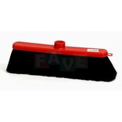 Smeták červený SUZANA ČERNÝ chlup  33x5 cm  chlup 7 cm  plast, kov