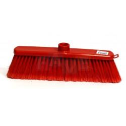 Smeták červený SUZANA ČERVENÝ chlup  33x5 cm  chlup 7 cm  plast, kov