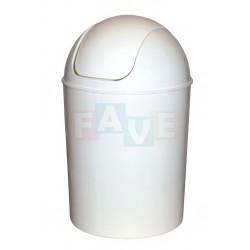 Koš OSKAR odpadkový kulatý s víkem bílý  40x26,5 cm  15 l  plast
