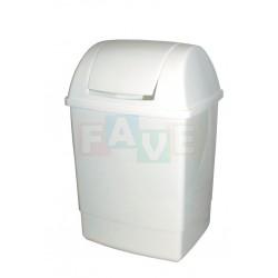Koš KLIP odpadkový hranatý s víkem bílý  49x28x23 cm  26 l  plast