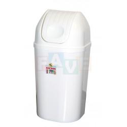 Koš DinDon odpadkový hranatý s víkem bílý  67x34 cm  50 l  plast