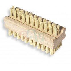 Kartáček dřevěný dvoustranný  10x4 cm  chlup 1 cm  dřevo