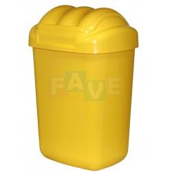 Koš FALA výklopný s tvarovaným víkem žlutý  51x35,5x30 cm  30 l  plast