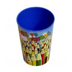 Kelímek Back to school  7,4x10,2 cm  0,29 l  plast  mix barev