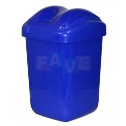 Koš FALA výklopný s tvarovaným víkem modrý  37x24,5x26 cm  15 l  plast
