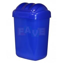 Koš FALA výklopný s tvarovaným víkem modrý  51x35,5x30 cm  30 l  plast
