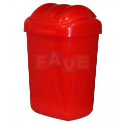 Koš FALA výklopný s tvarovaným víkem červený  51x35,5x30 cm  30 l  plast