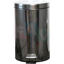 Koš pedálový kulatý s plastovou vložkou  44x29 cm  20 l  nerez
