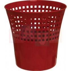 Koš Alfa odpadkový děrovaný, červený  29x28 cm  12 l  plast  mix barev