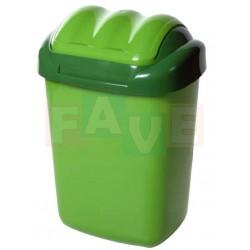 Koš FALA výklopný s tvarovaným víkem zelený  51x35,5x30 cm  30 l  plast